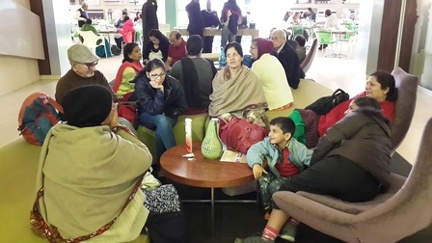 Indian Group awaiting transfer to airport-2605